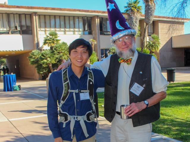 During RACA-Con, Professor Tiffney (right) poses with a student
