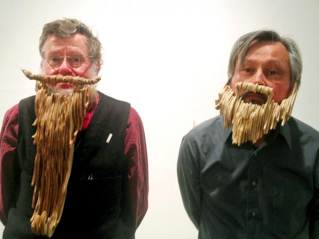 Professor Tiffney (left) with CCS Art Faculty Dan Connally (right)